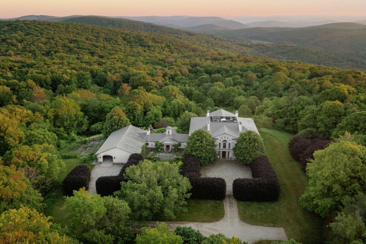 Located in the northwest corner of Connecticut, the home on 141 5 1/2 Mile Road in Cornwall has views of Massachusetts, Connecticut and New York, according to the listing.