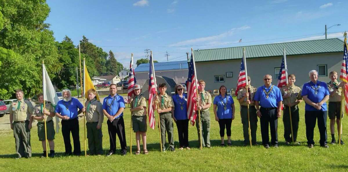 On Monday, June 14, the Big Rapids Elks Lodge 974 and the DAV Post #18 and Boy Scout Troop 114 to hosted its annual Flag Day ceremony. (Courtesy photo)