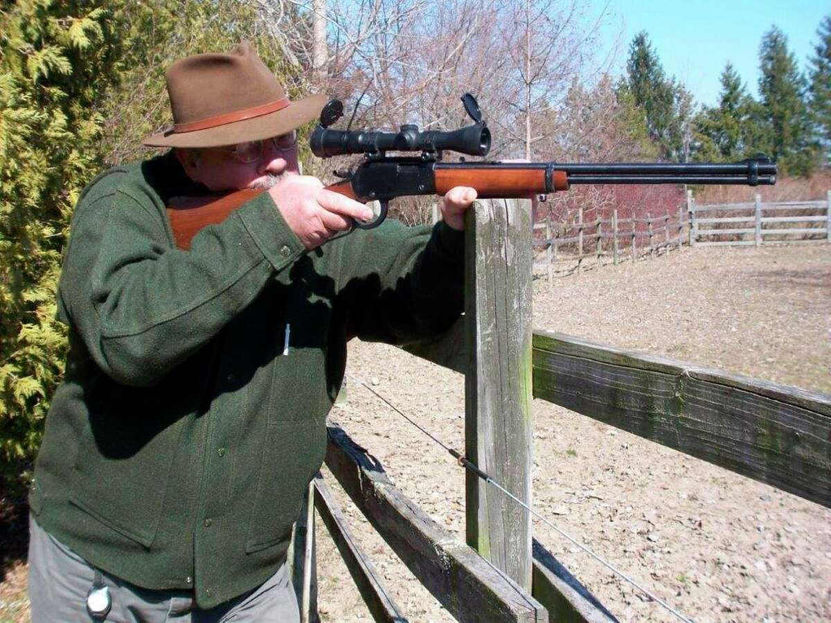 One of Tom Lounsbury's favorite woodchuck rifles is a (1.5 x 5X) scoped Ithacalever-action in .22 Magnum rimfire. (Photo provided by Tom Lounsbury/Hearst Michigan)