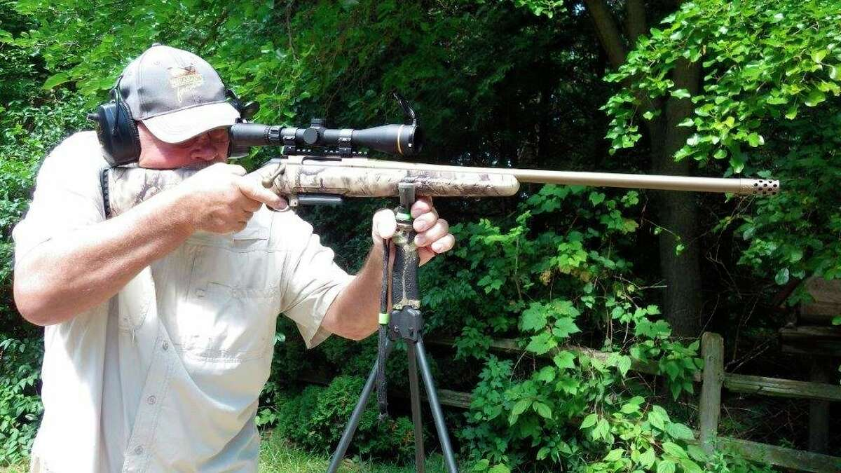 A new rifle for Tom Lounsbury in the woodchuck hunting arena is a (3-9X) scopedRuger bolt-action in 6.5 Creedmoor, which is a very versatile caliber withsome reach. Lounsbury used this rifle to bag an elk last fall as well. (Photo provided by Tom Lounsbury/Hearst Michigan)