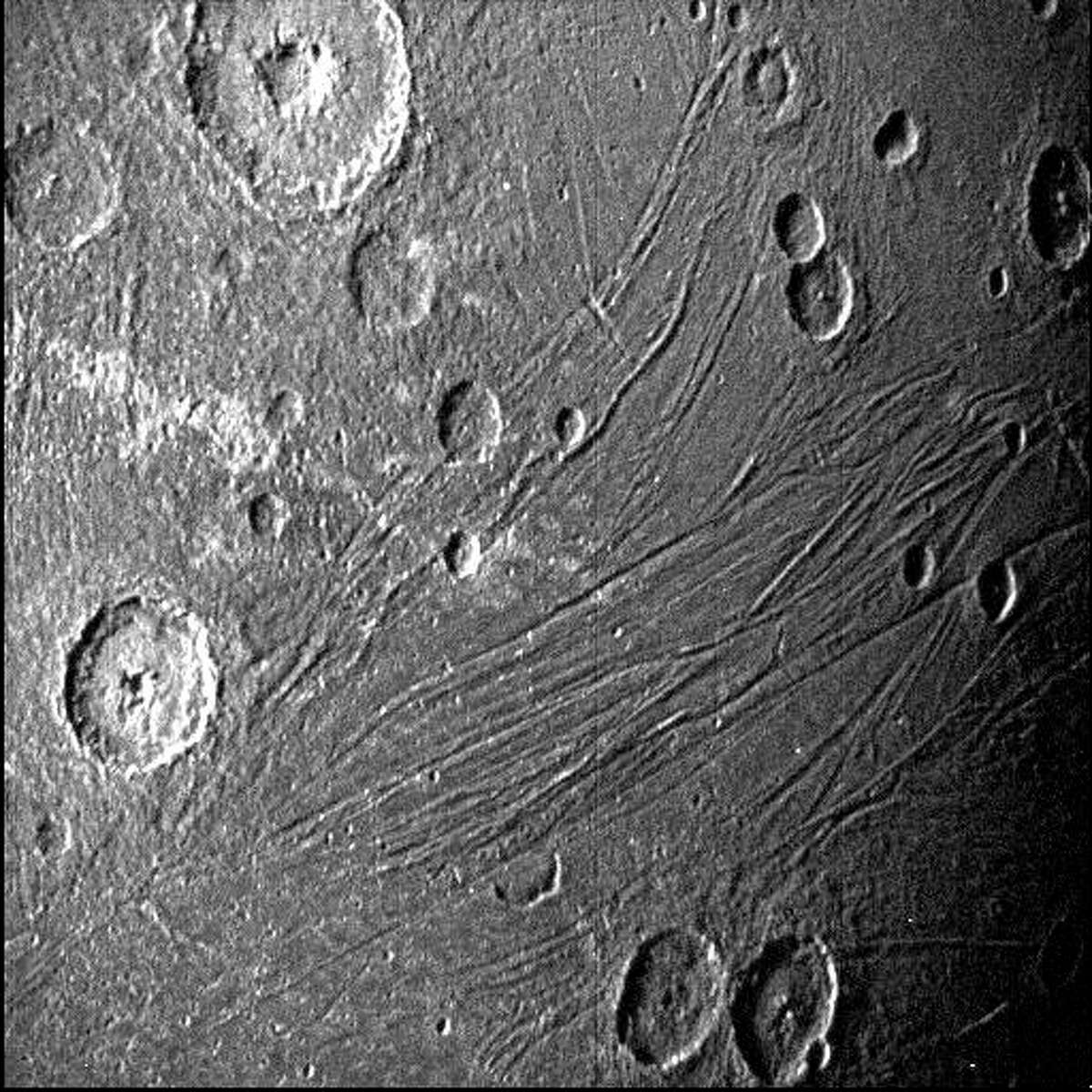 Juno, with instruments from Southwest Research Institute, captured images of Jupiter's moon Ganymede this month.