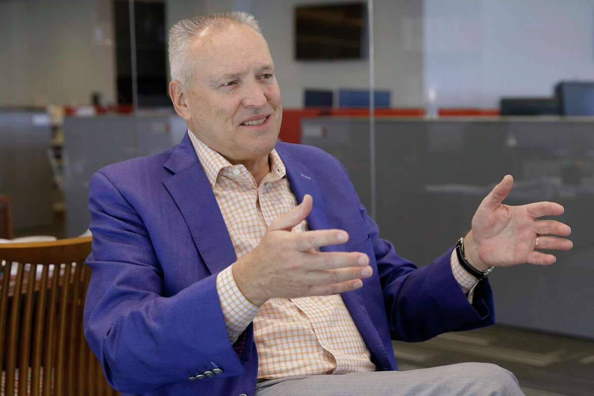 John W. Allen, president and CEO of G&A Partners, a human resources services company, during an interview at their corporate headquarters Thursday, May, 27, 2021 in Katy, TX.