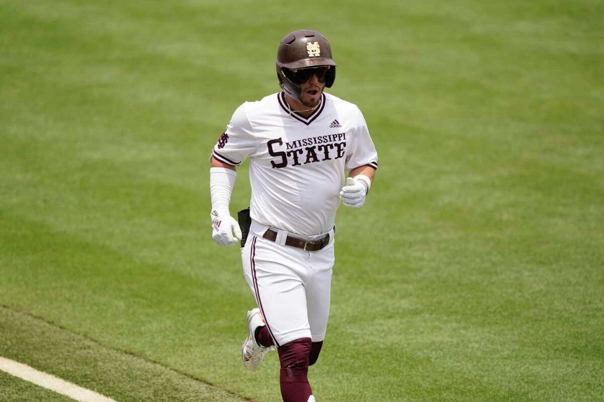 Mississippi State right fielder Tanner Allen (.392, 10 home runs, 62 RBIs) brings an imposing bat into the Bulldogs' CWS opener against Texas.