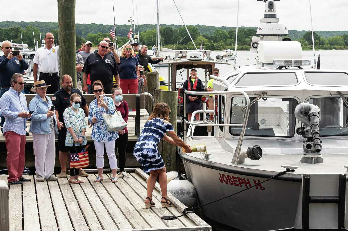 The Essex Fire Engine Co 1 recently dedicated its new fire boat, the Joseph H., in honor of Joseph Heller, a longtime member of the fire department who passed away in 2019.