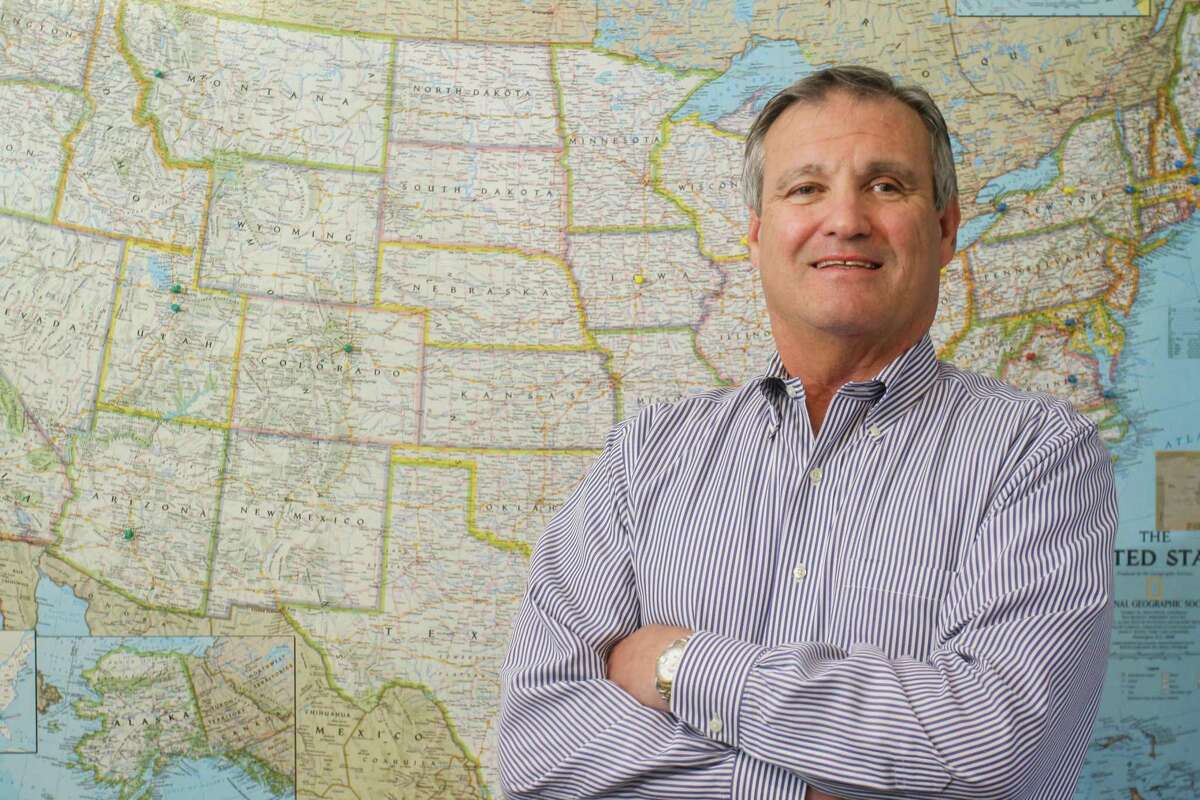 Brian Lane, CEO Comfort Systems USA, at their Houston office on June 3, 2021.