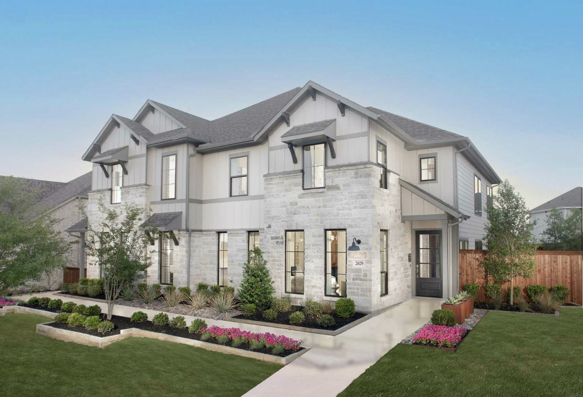 A Perry Homes Townhomes Model at the Walsh development in Fort Worth.