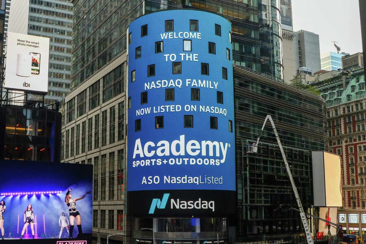 A virtual bell ceremony for Academy Sports on Oct. 6, 2020, after the company went public with a NASDAQ listing.