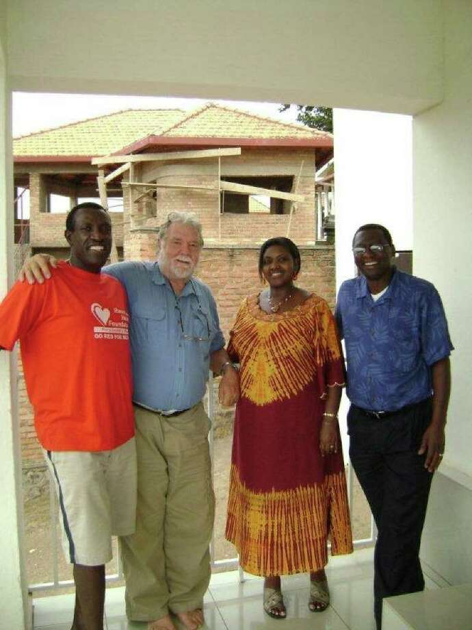 From left to right:  Dr. Jean Damascene Ntawukuliryayo, Dr. John Streit, Marie Chantal Ntawukuliryayo and Vianney Ruhumuliza. (Photo courtesy of John Streit)
