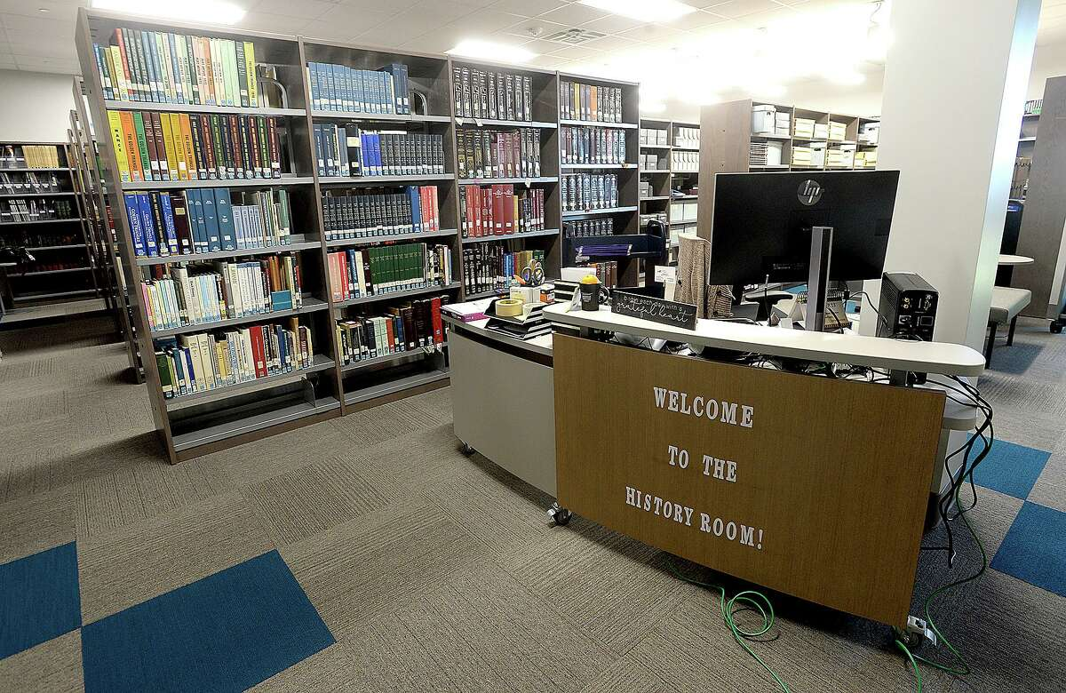 The newly remodeled Port Arthur Public Library will have its grand re-opening Saturday. The facility has been closed for renovations and repairs since taking on nearly two feet of water during Tropical Storm Harvey in 2017. Photo taken Thursday, March 21, 2019 Kim Brent/The Enterprise