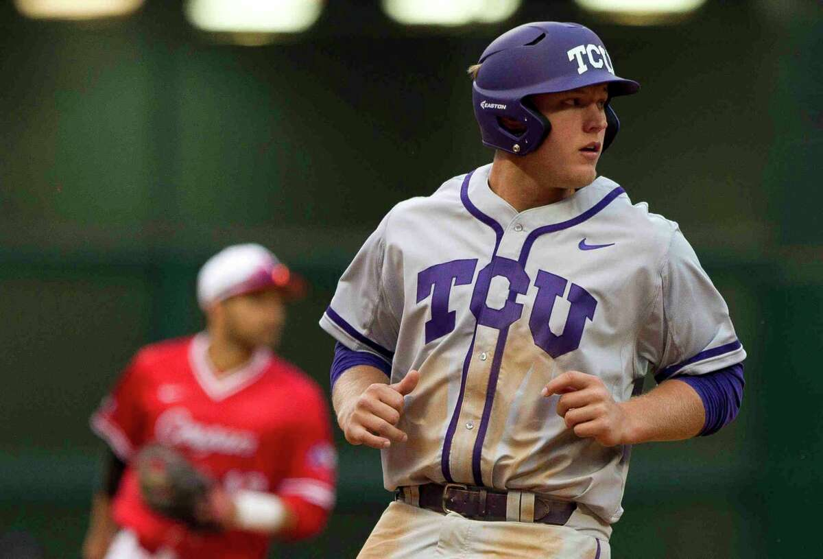 Luken Baker of Oak Ridge, rated the Cardinals' 14th-best prospect by MLB.com, was one of several Houston-area players signed by new Aggies coach Jim Schlossnagle when he was at TCU.