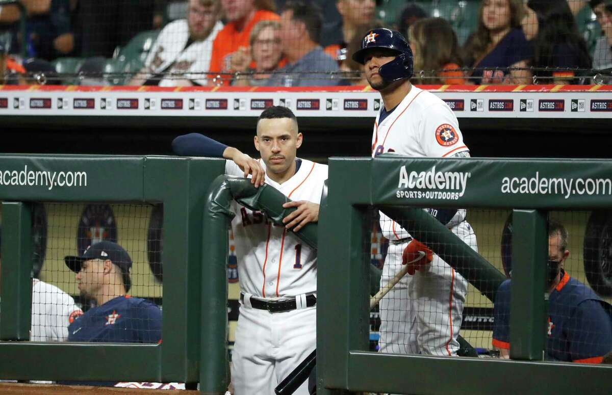 Carlos Correa and Yuli Gurriel were both out of the Astros' lineup against the Twins on Thursday.