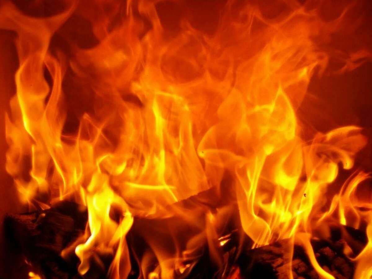 This file photograph shows flames.