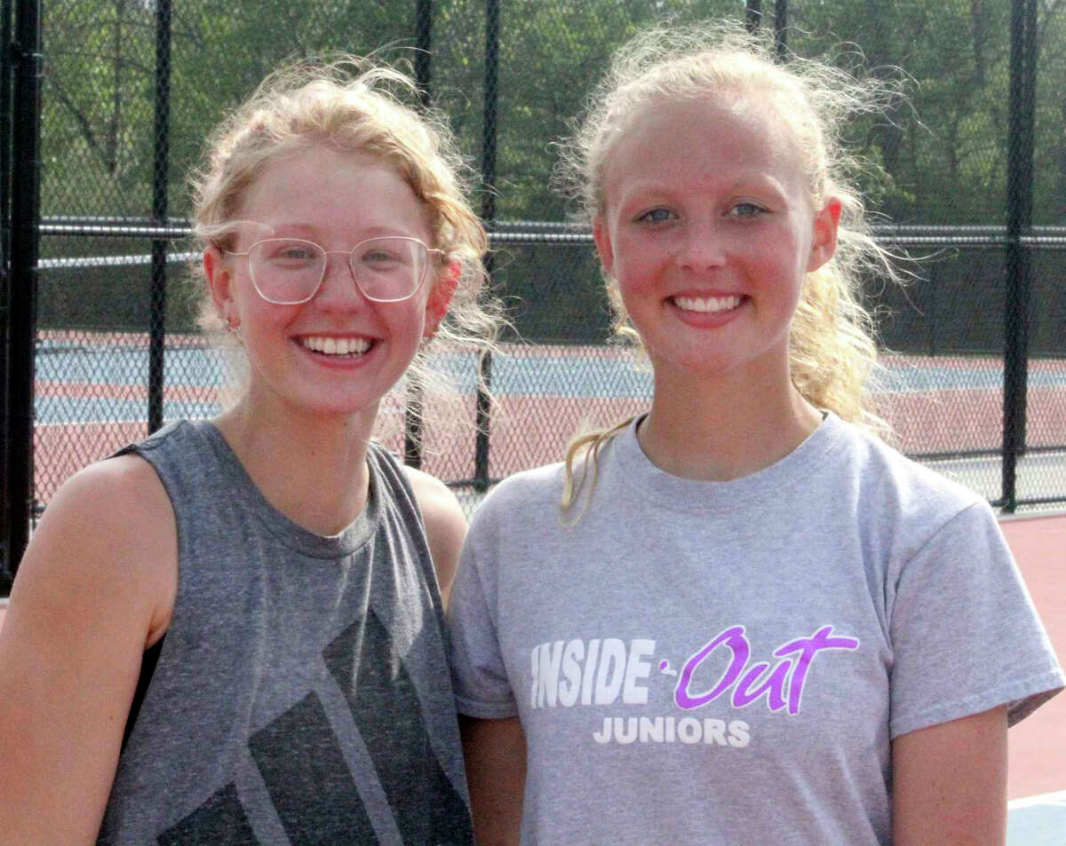 Senior Ally Sims (left) and freshman Kara Paquette had many highlights at doubles for Big Rapids this season.