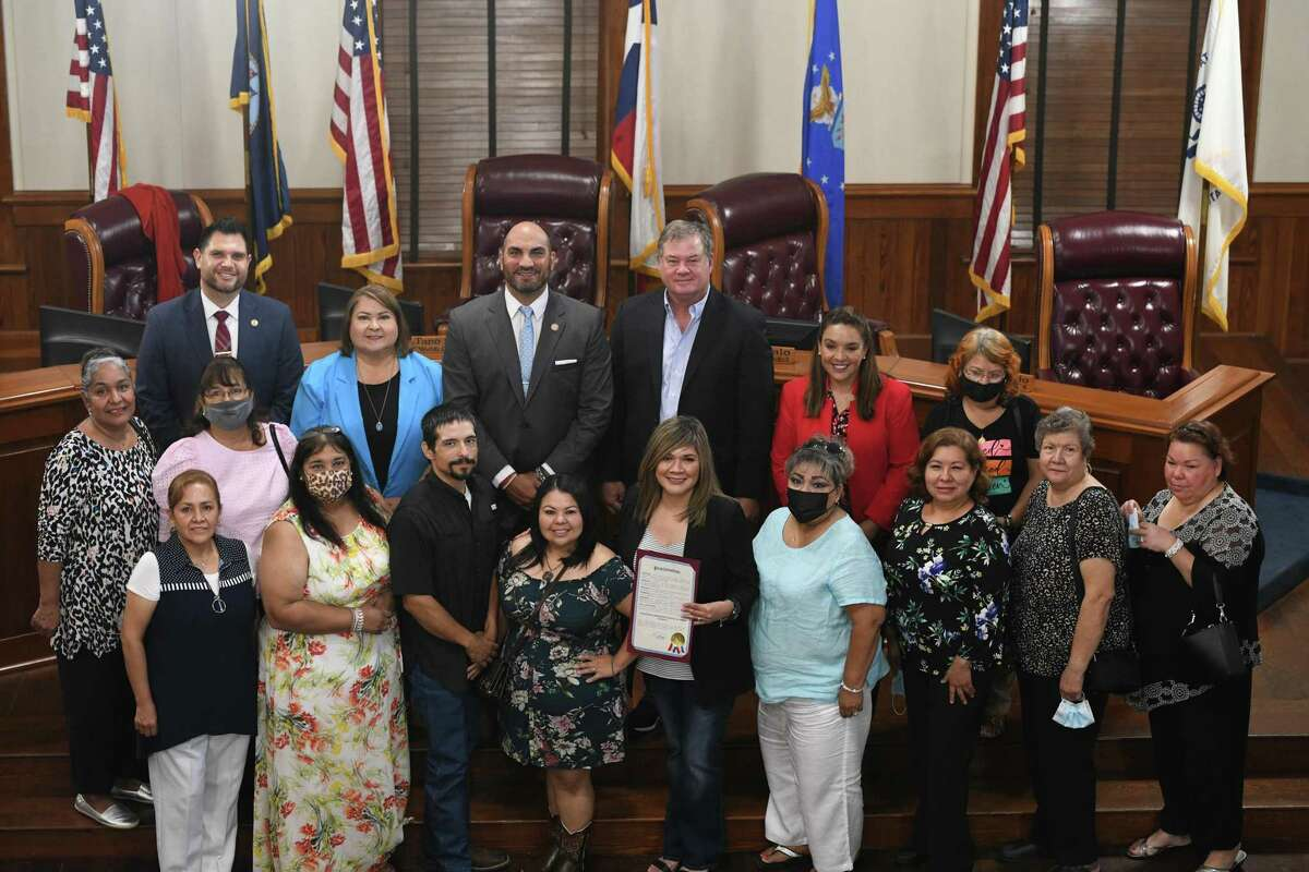 Foster mothers and fathers gathered and were recognized at the county commissioners court as county judge Tano Tijerina proclaimed June as Adoption Awareness month