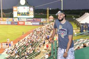 Derrick White, who ended the 2020-2021 season sidelined by an ankle sprain, was able to spend time meeting fans, snacking on Cracker Jacks and enjoying $2 Tuesday at Wolff Stadium as the Missions faced the Northwest Arkansas Naturals.