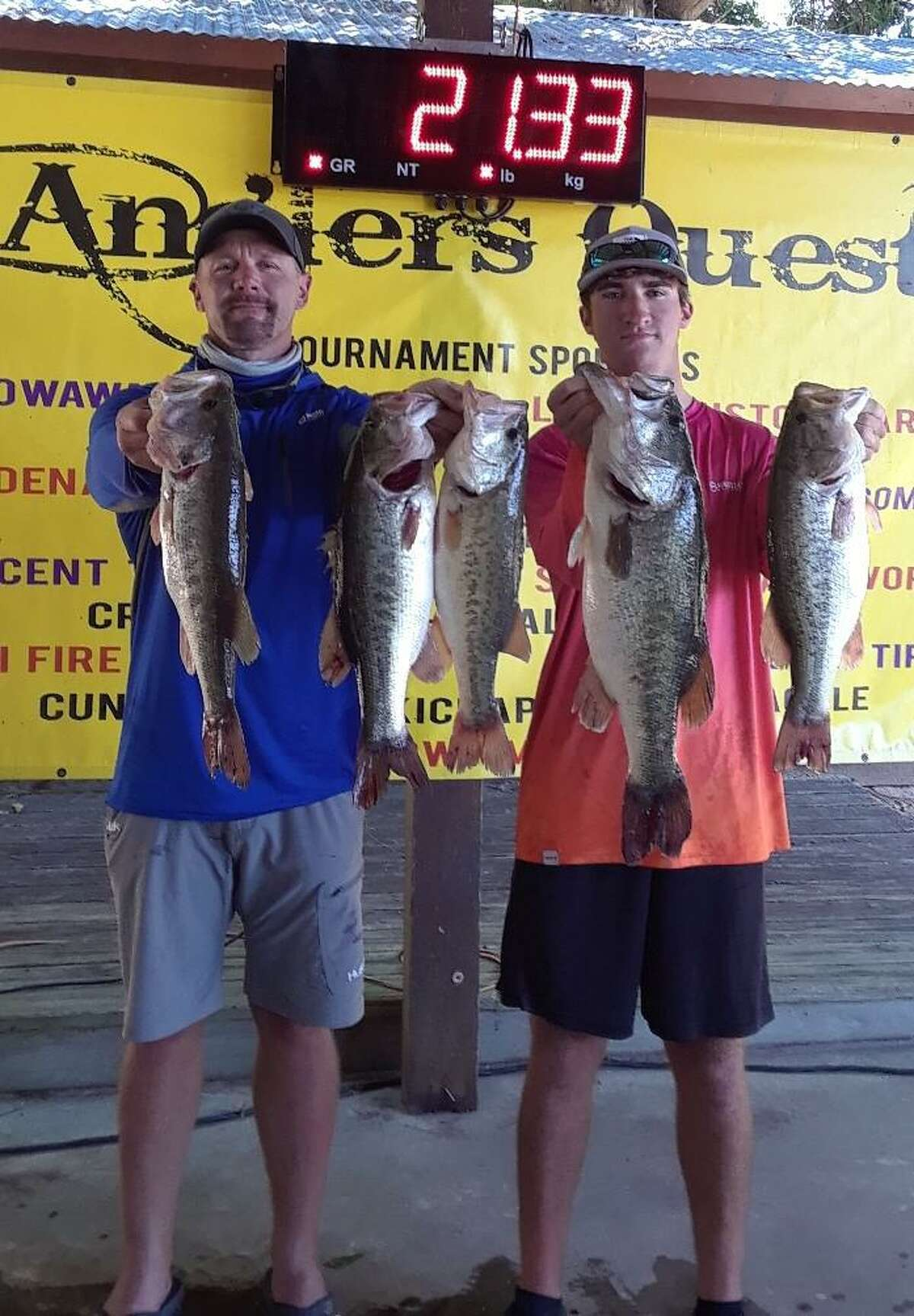 Jason Slot and Mason Roach won the Anglers Quest Team Team Tournament #6 with a total weight of 21.33 pounds.