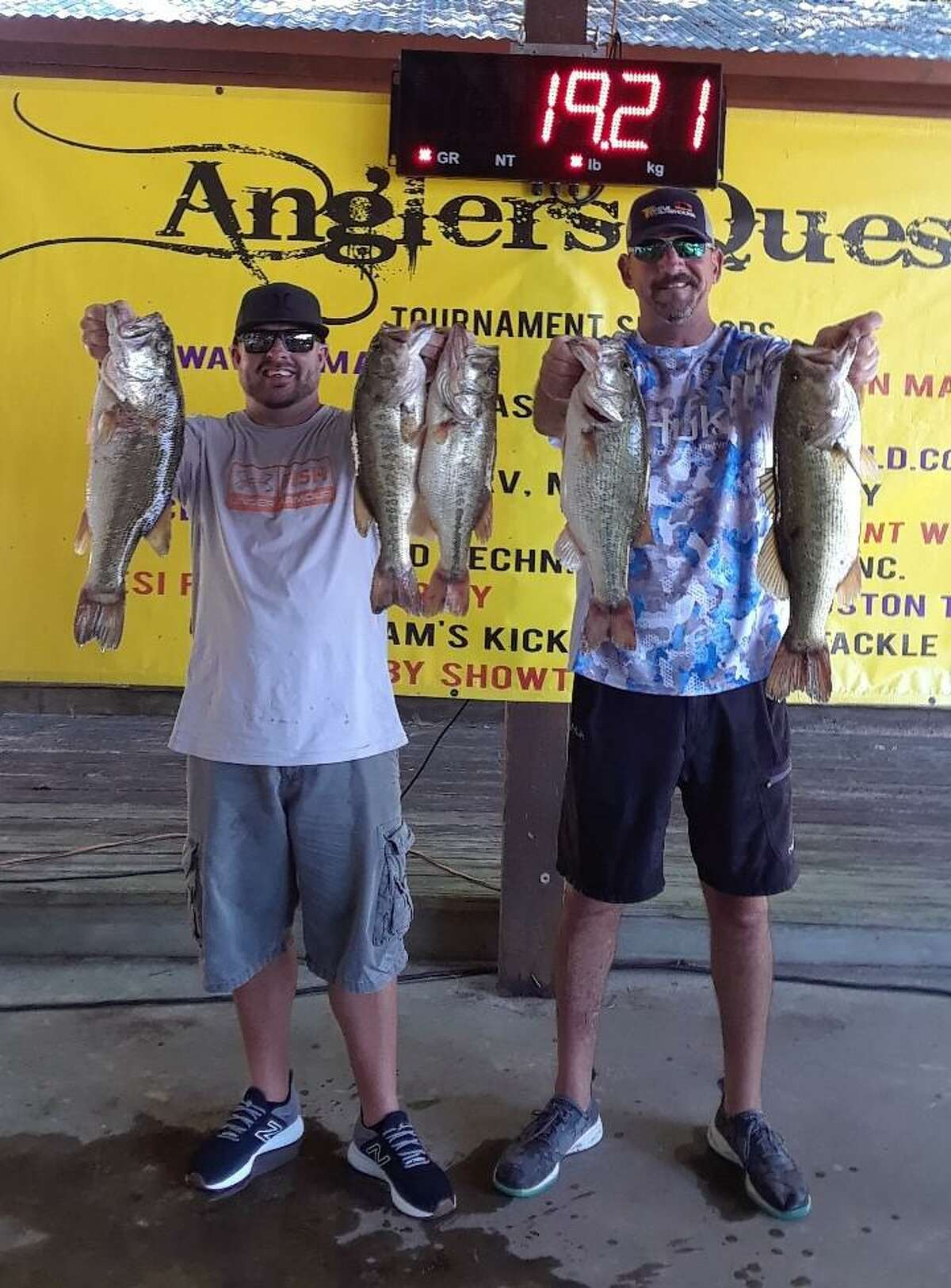 Ty Russell and Matt Russell came in second place in the Anglers Quest Team Team Tournament #6 with a total weight of 19.21 pounds.