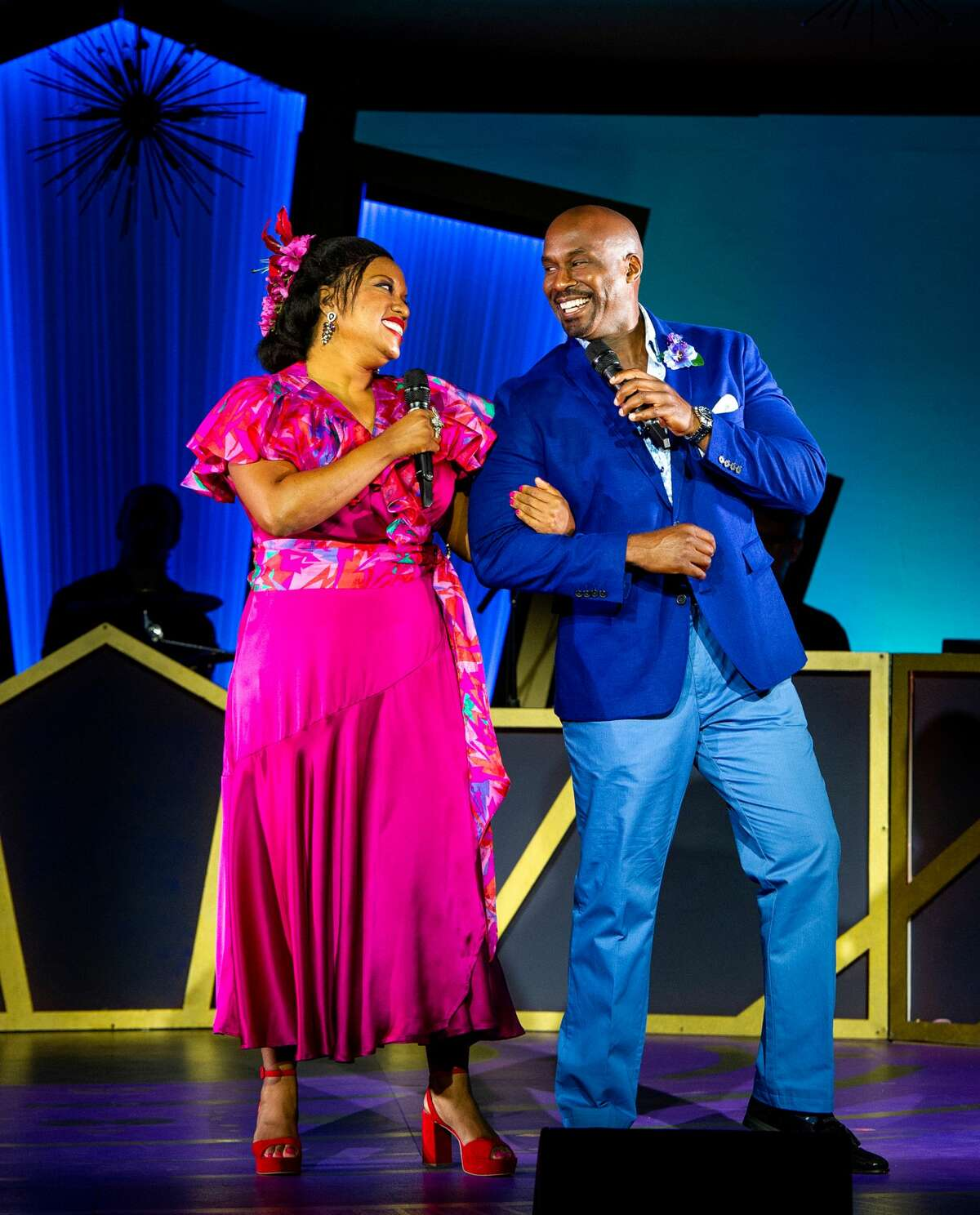 """Allison Blackwell and Alan H. Green in """"Who Could Ask For Anything More?The Songs of George Gershwin,"""" the season-opening production for Barrington Stage Company in Pittsfield, Mass. It runs June 10 to July 3, 2021. (Daniel Rader/BSC.)"""