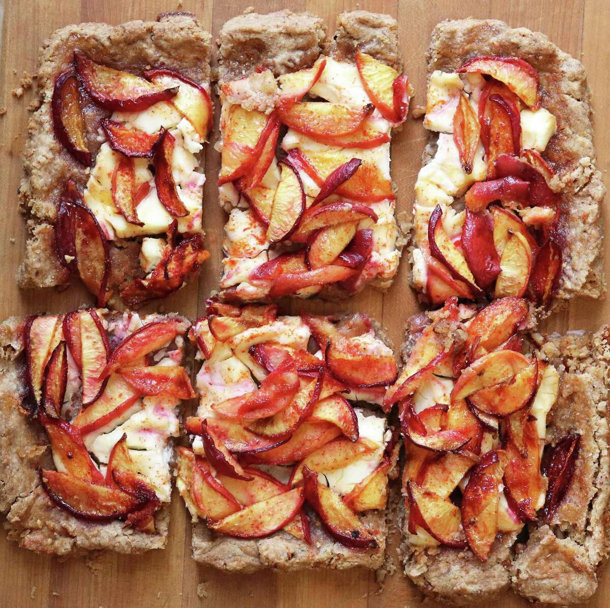 Peach Pecan Galette is a perfect way to start the day.
