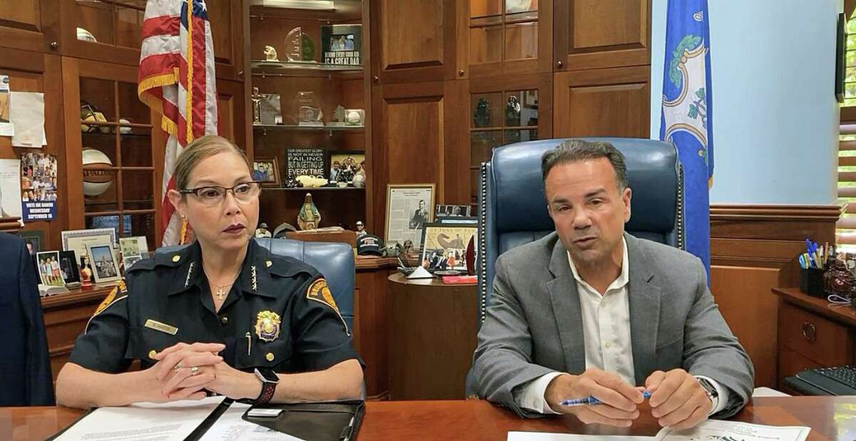 Acting Police Chief Rebeca Garcia (left) and Mayor Joe Ganim held a brief virtual press conference on Wednesday, June 16, 2021, to address a recent spike in gun violence after two people were fatally shot earlier this week.