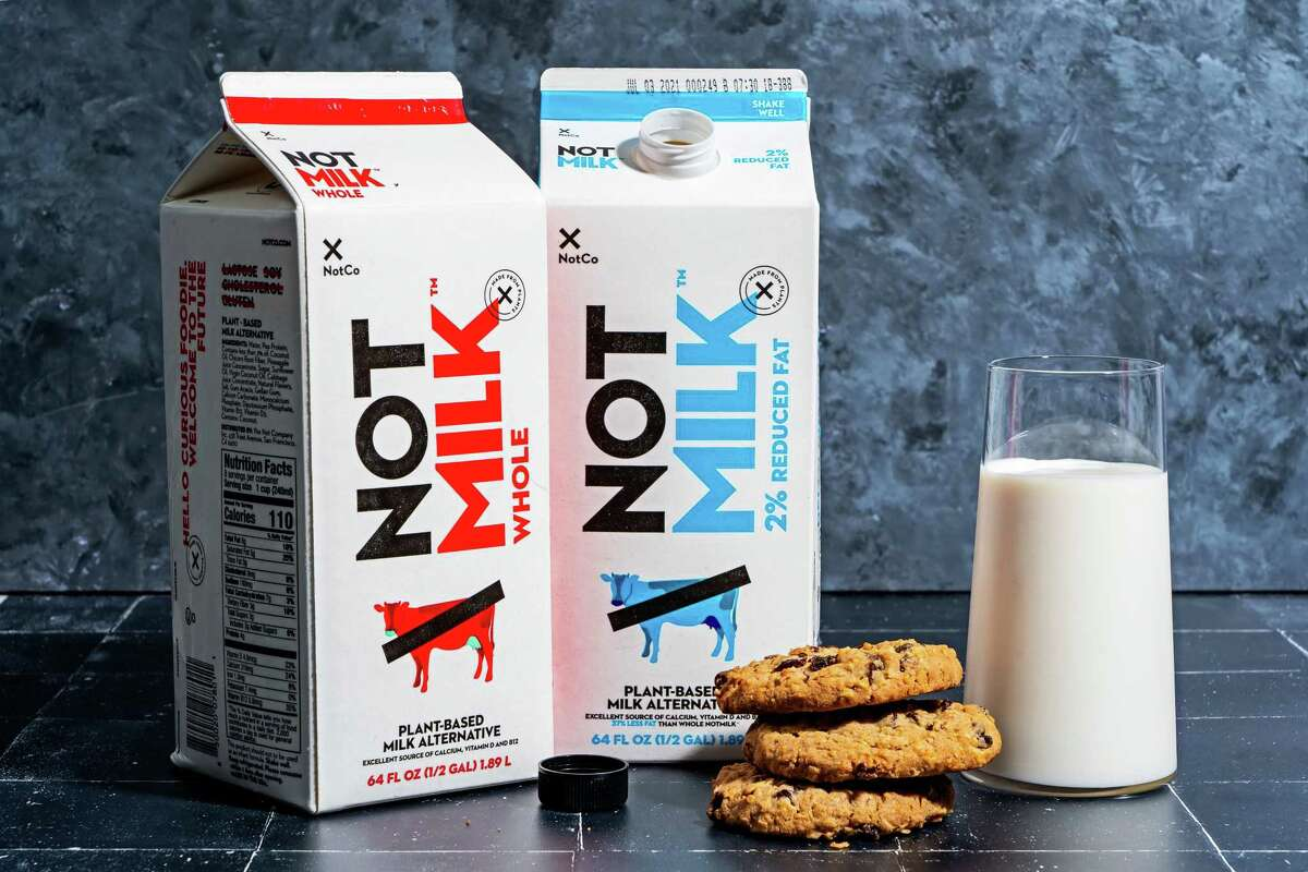 Plant-based NotMilk, in whole and low-fat varieties.