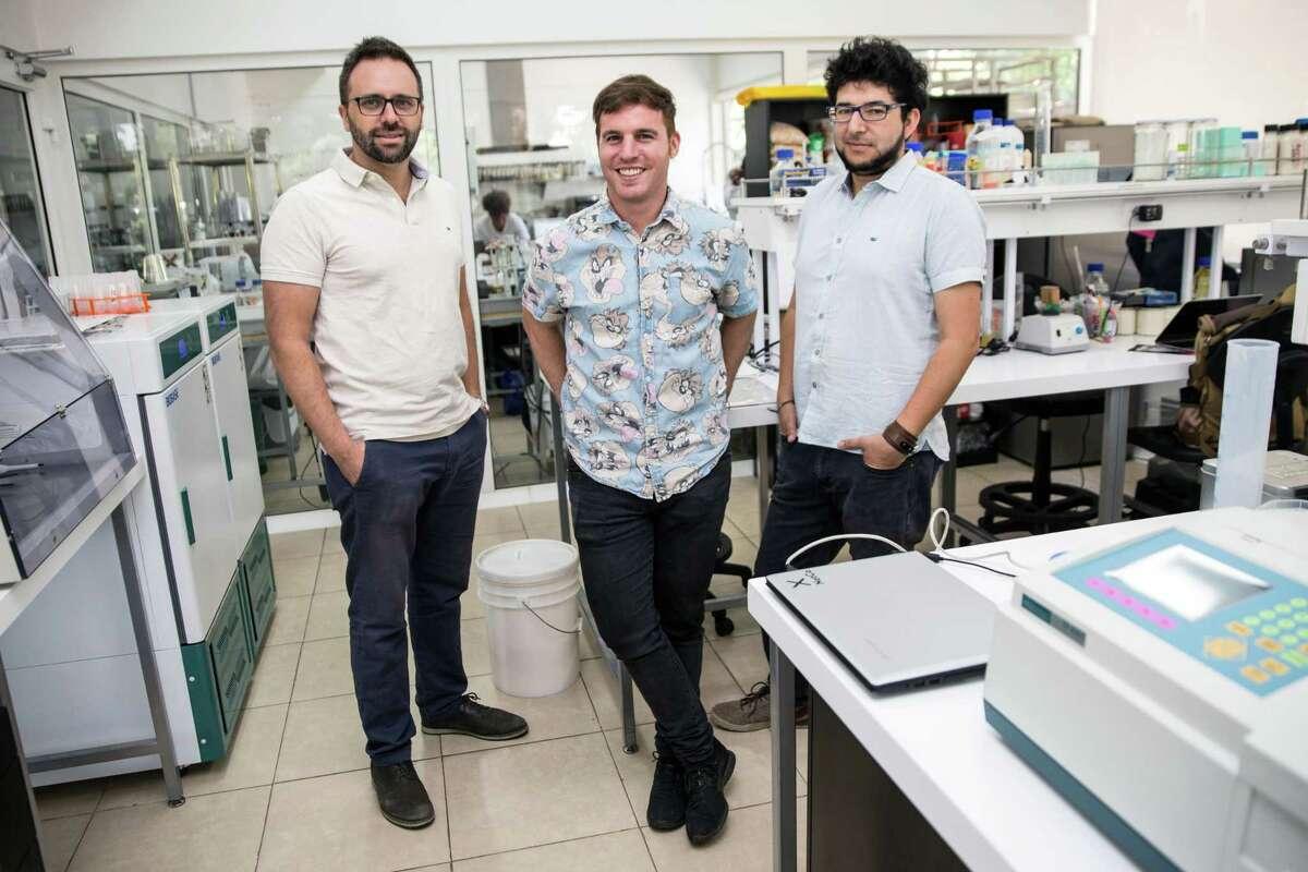 From left, NotCo founders Karim Pichara Baksai, Matias Muchnick and Pablo Zamora.