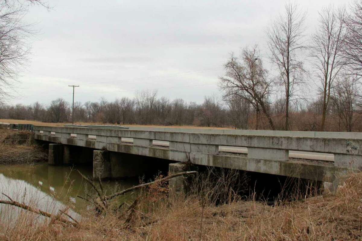 The Haist Road bridge in Winsor Township. The bridge is one of two in Huron County listed to receive federal funds as part of the INVEST in America Act. (Tribune File Photo)