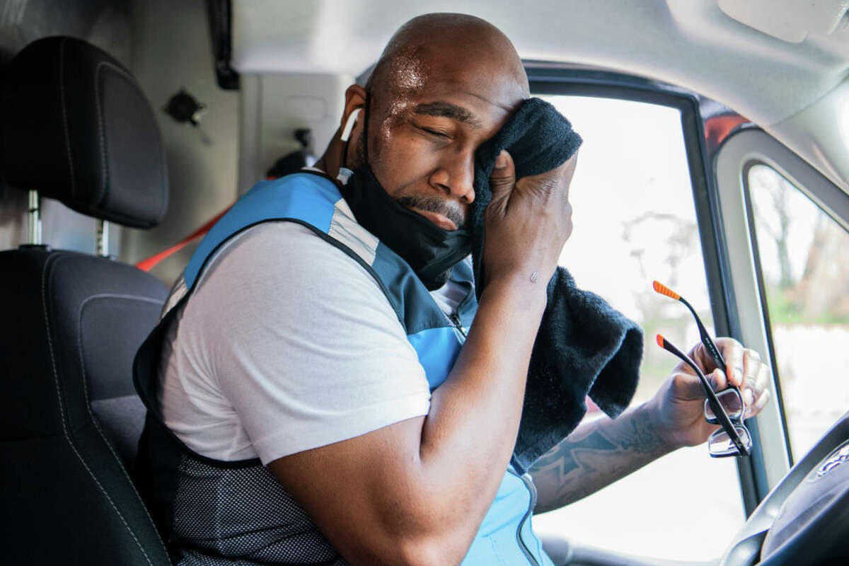 Getting into a vehicle in Texas during the summer sometimes immediately requires wiping your face free of sweat. (Photo By Tom Williams/CQ-Roll Call, Inc via Getty Images)