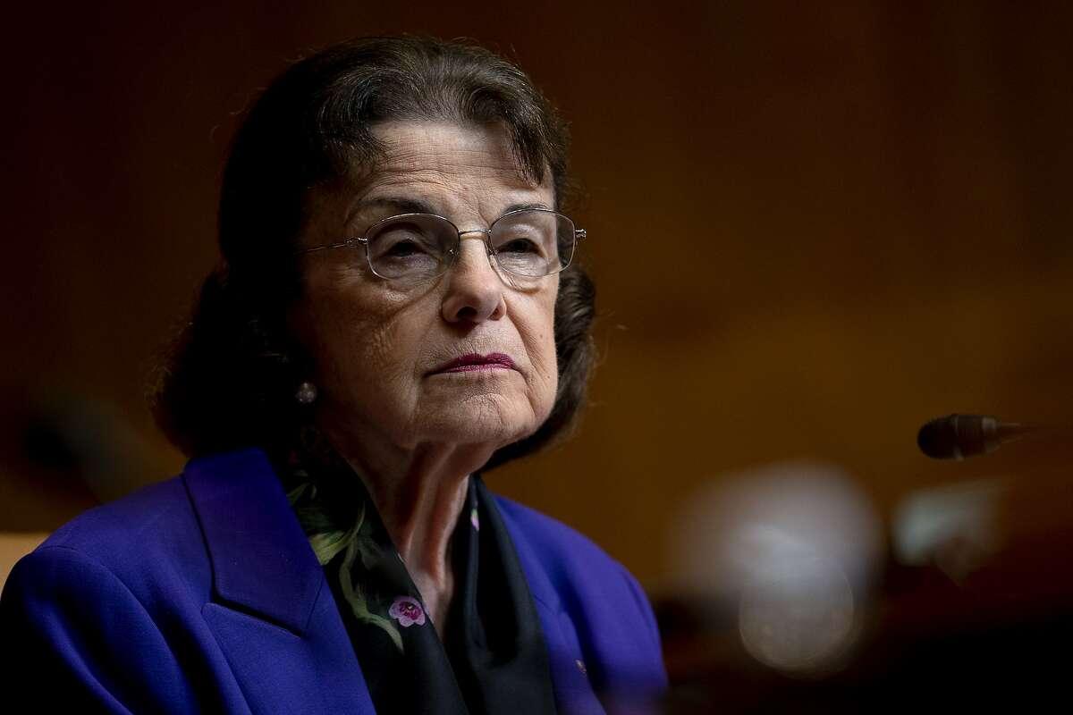 Sen. Dianne Feinstein on Capitol Hill in Washington on June 9, 2021.