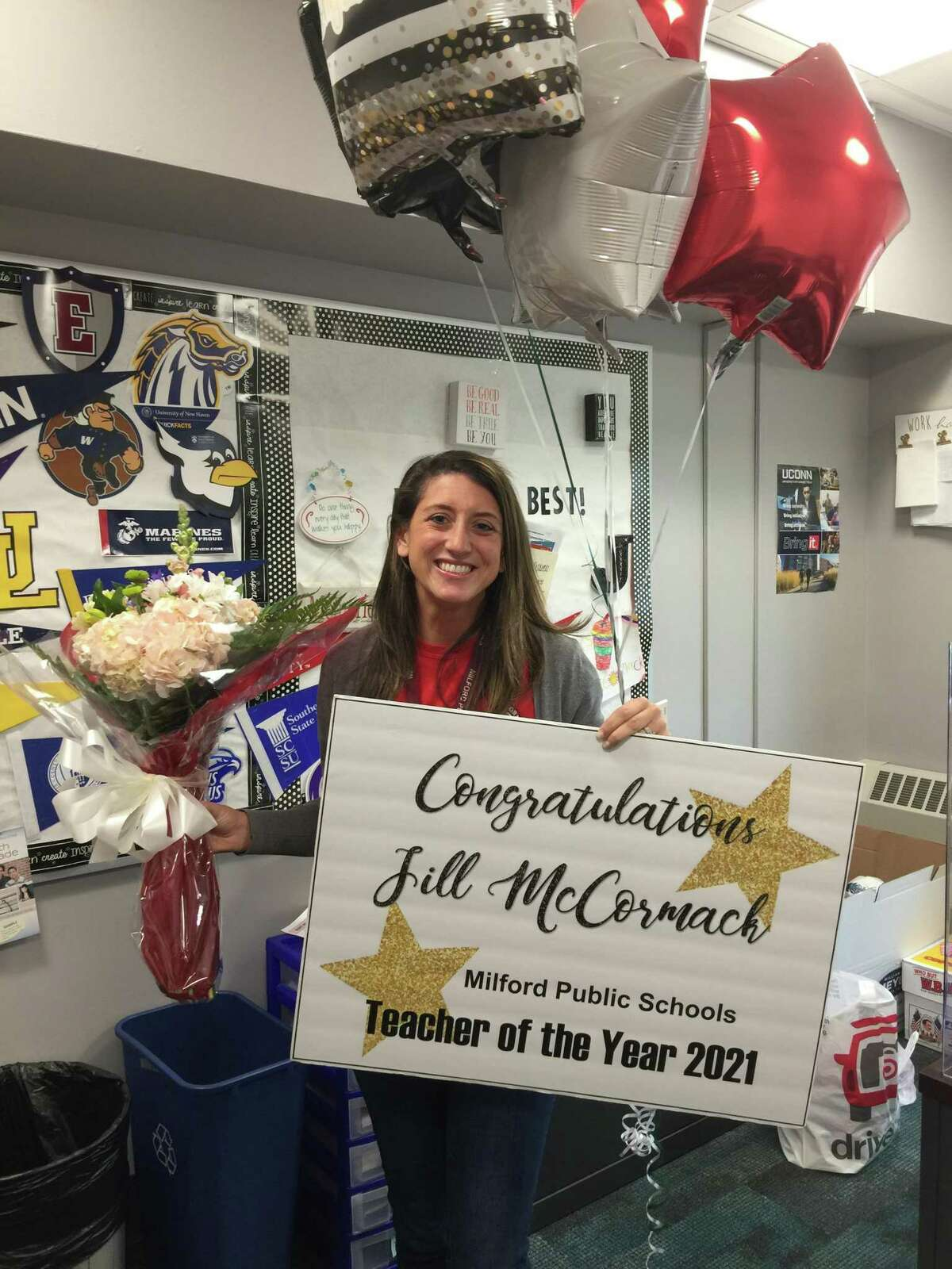 Jill McCormack is the Milford Public Schools Teacher of the Year