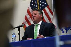 Albany County Executive Dan McCoy holds his final county COVID-19 briefing on Wednesday, June 16, 2021, at the county offices in Albany, N.Y. (Will Waldron/Times Union)