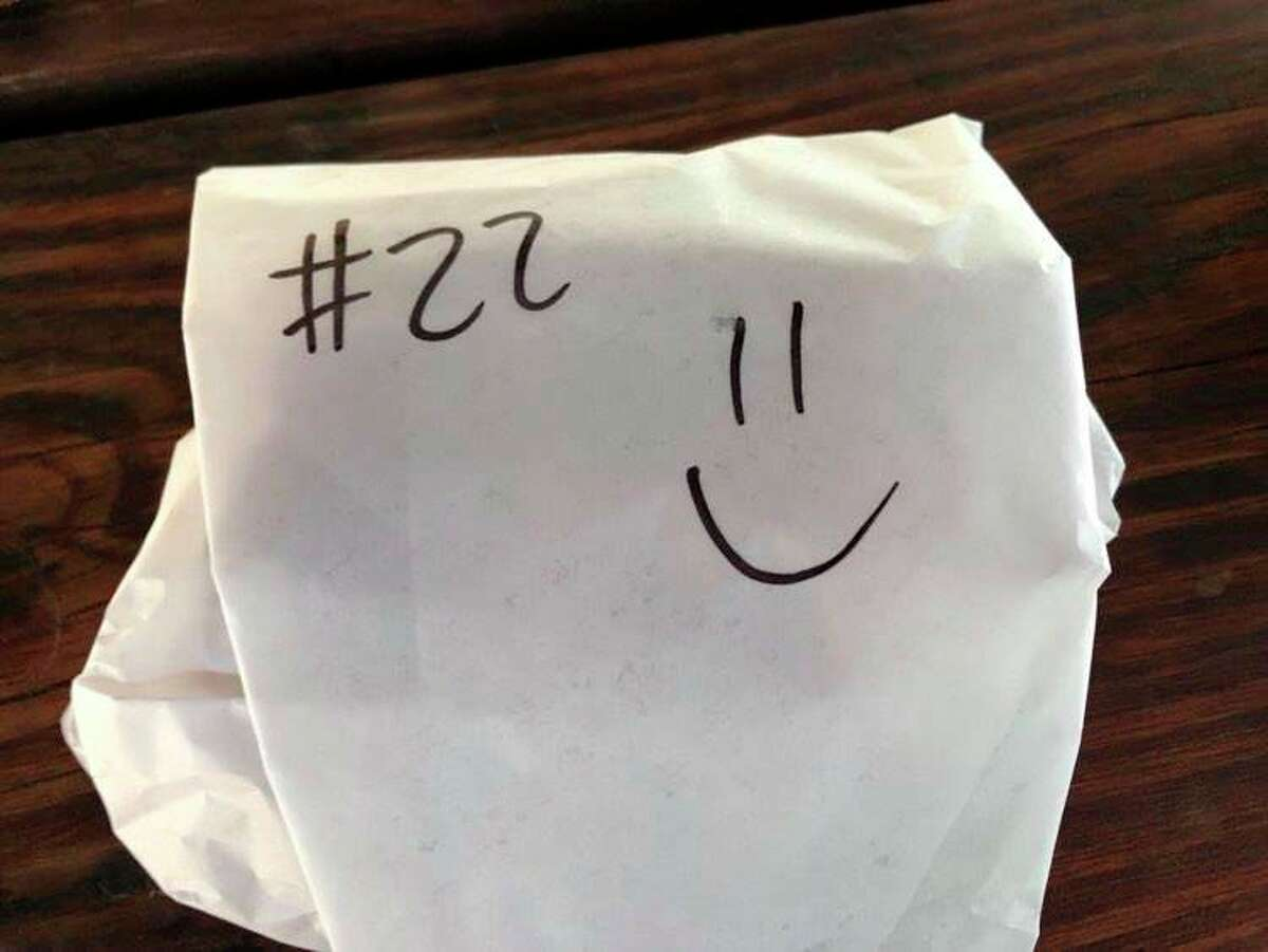 I appreciated the small smiley face the cook at Amazing Deli had drawn onthe wrapper - it's the small things that give life joy. (Victoria Ritter/vritter@mdn.net)