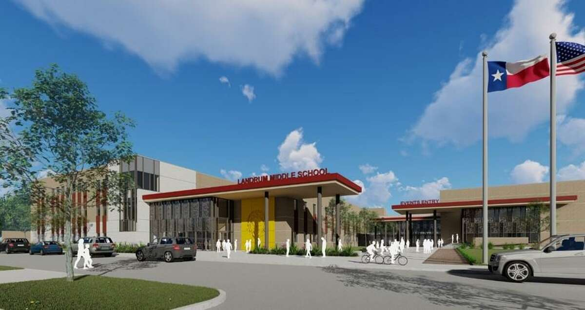 An architectural rendering of what the new Landrum Middle School will look like. The building is now complete and teachers are beginning to move into their new classrooms for the upcoming school year which begins on Aug. 16.