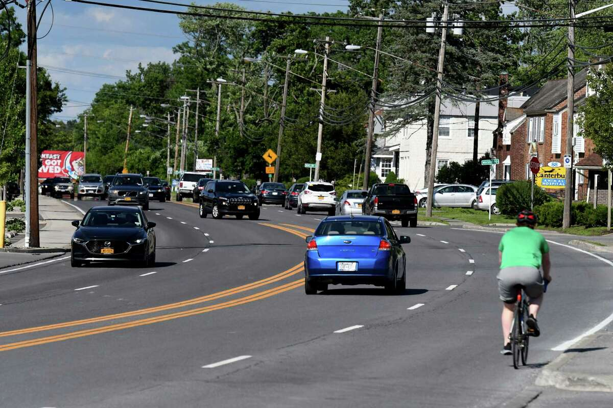 Delaware Avenue looking north toward Albany on Wednesday, June 16, 2021, in Bethlehem, N.Y. (Will Waldron/Times Union)
