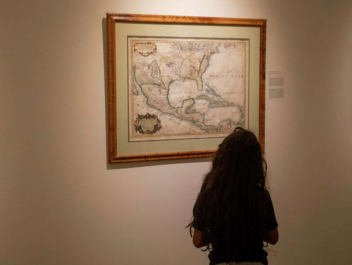 """The """"Five Centuries of Mexican Maps"""" exhibit as seen Friday, June 11, 2021 at the Museum of the Southwest. Jacy Lewis/Reporter-Telegram"""