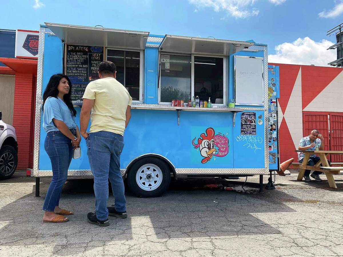 Chi Chi Birds Hot Chicken is a food trailer outside Paper Tiger on the St. Mary's Strip.