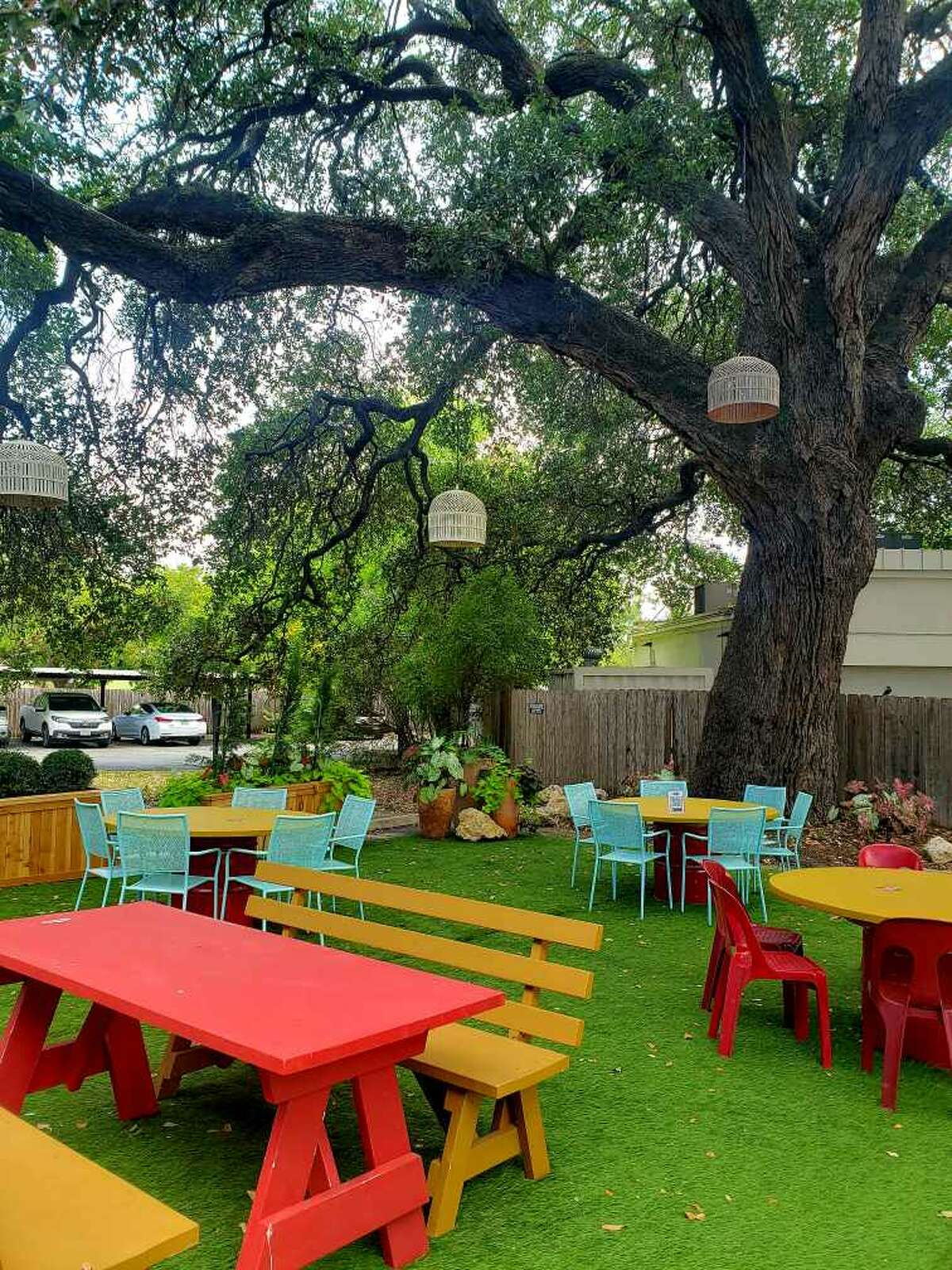 """The """"Oak Room"""" outdoor space at Bombay Bicycle Club"""