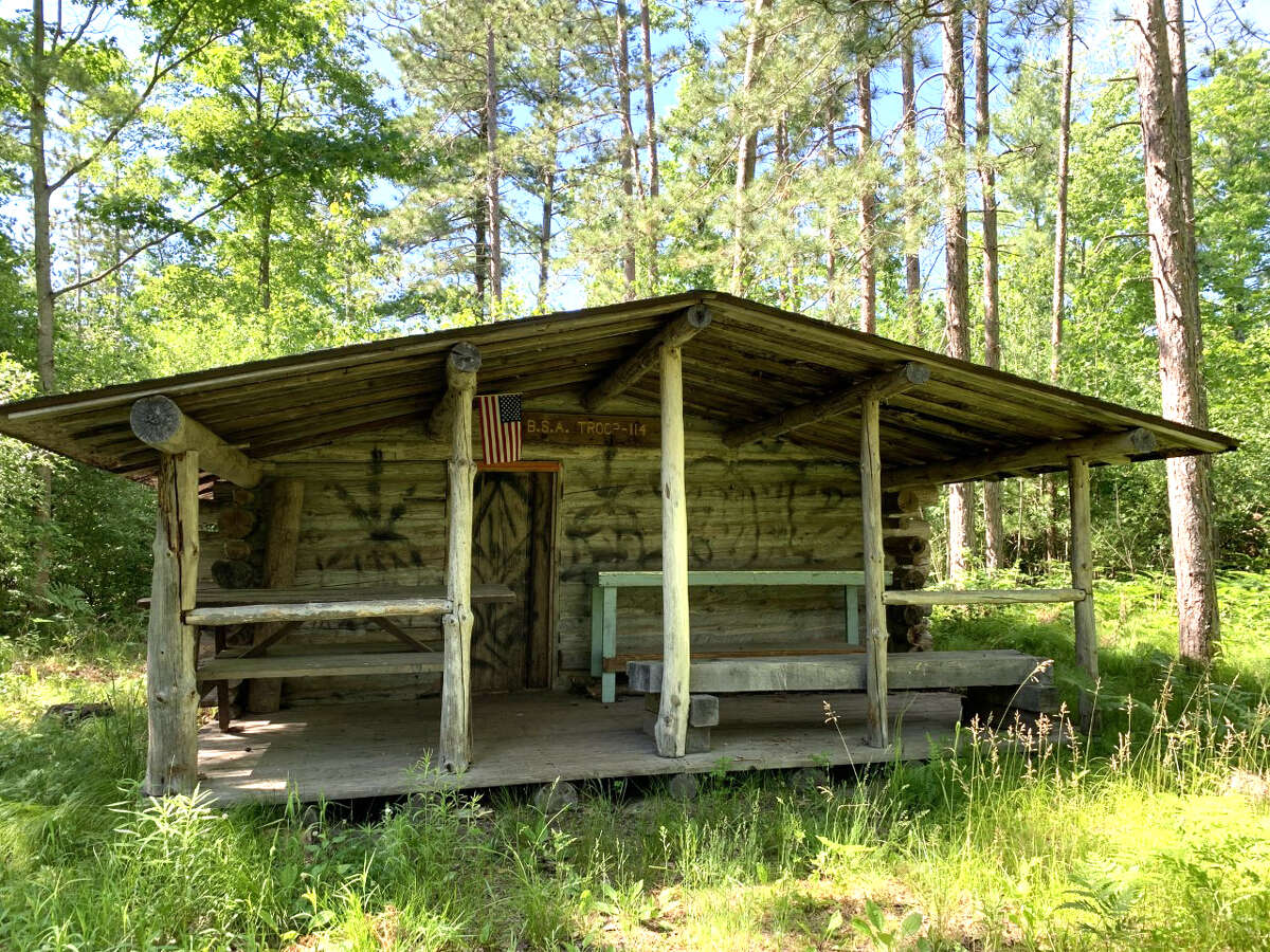 The White Pine Valley Recreation area has been used by scout troops throughout Mecosta County for many years. The scouts built the log cabin in the 1980s.