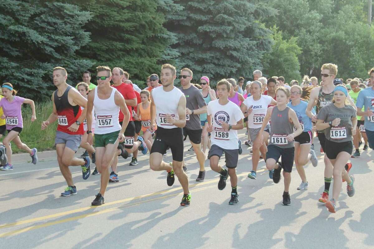 """Manistee's annual Firecracker 5K will be held in person on July 3 after being held """"virtually"""" a summer ago. (News Advocate file photo)"""