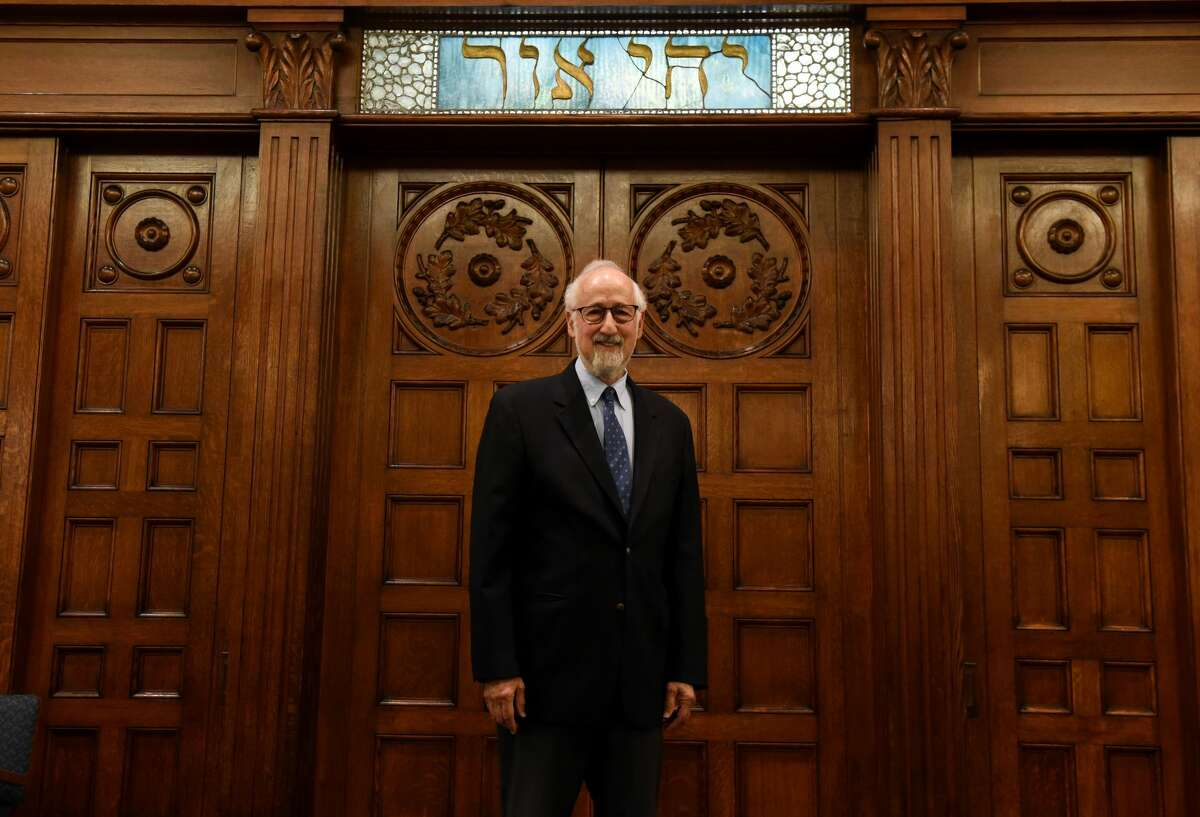 Rabbi David Katz of the B'nai Sholom Reform Congregation is pictured inside the synagogue where he's been interim rabbi for a year. He will be leaving Albanyto a new location next week. (Will Waldron/Times Union)