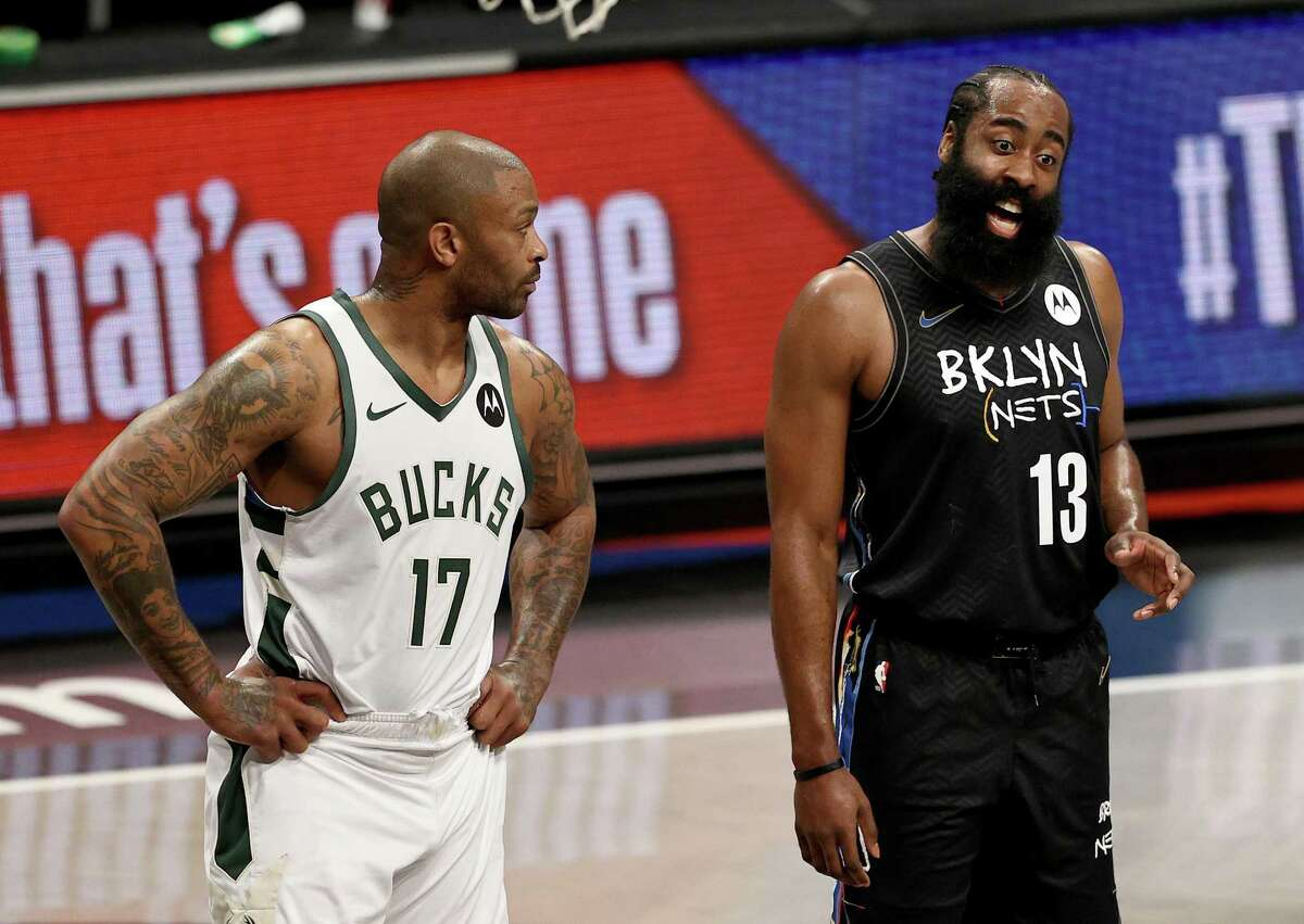 P.J. Tucker, now with the Bucks, had seen plenty of James Harden when they were together with the Rockets but it was different on Tuesday in Game 5 when Harden played hurt but deferred to a bigger star in Kevin Durant.