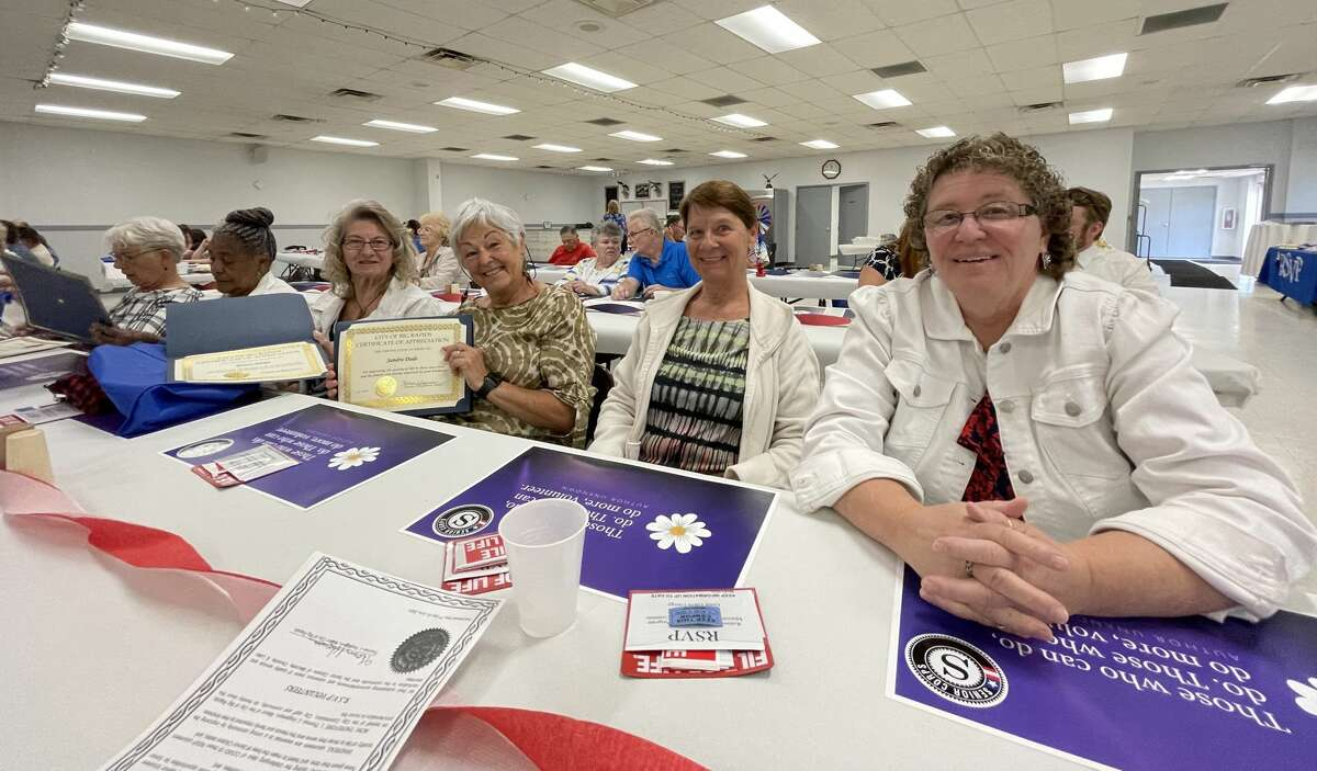 The Retired & Senior Volunteer Program of Mecosta, Osceola & Lake counties honored 48 of the hardest-working volunteers in the area on Wednesday with a special celebration luncheon.