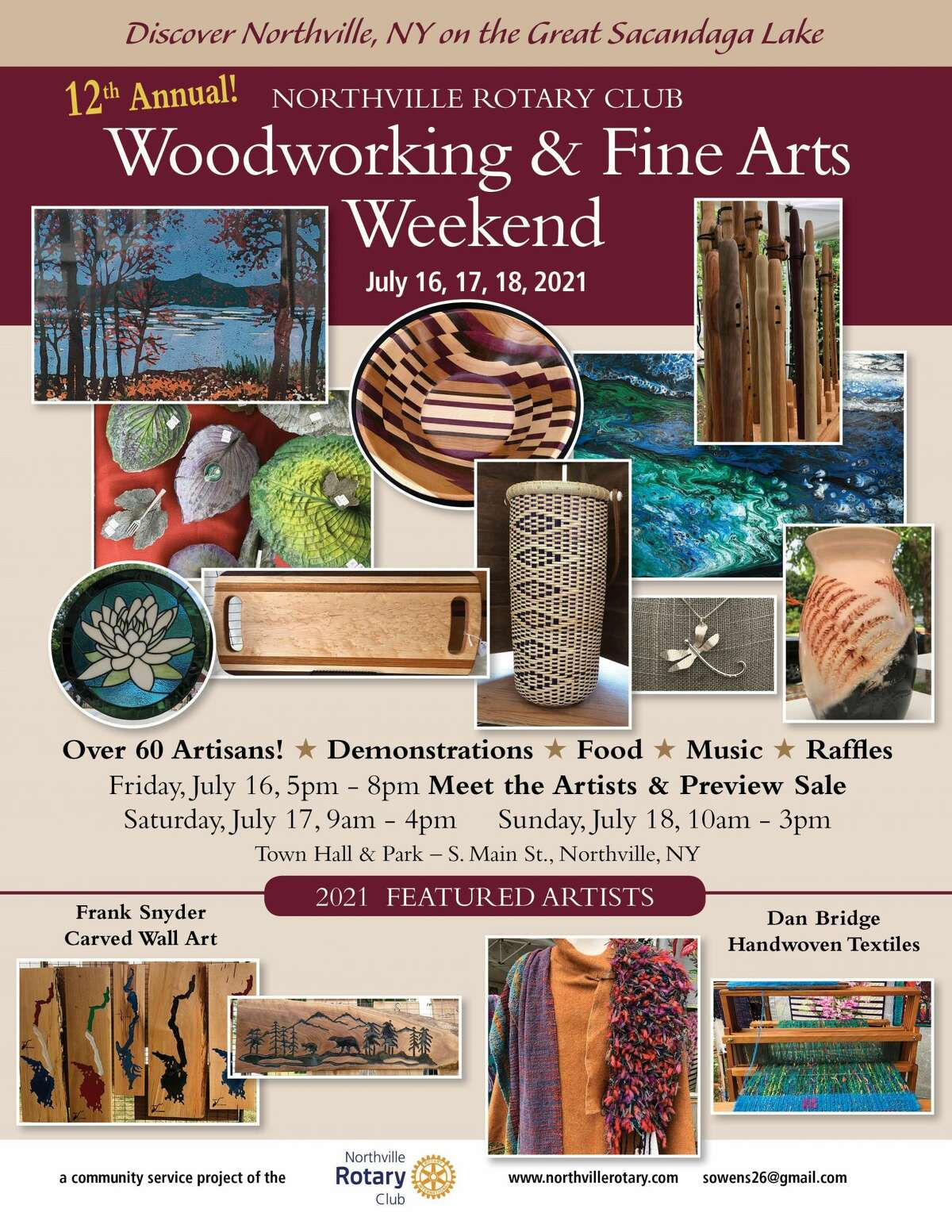 Northville will again host a wooodworking and fine arts weekend in July.