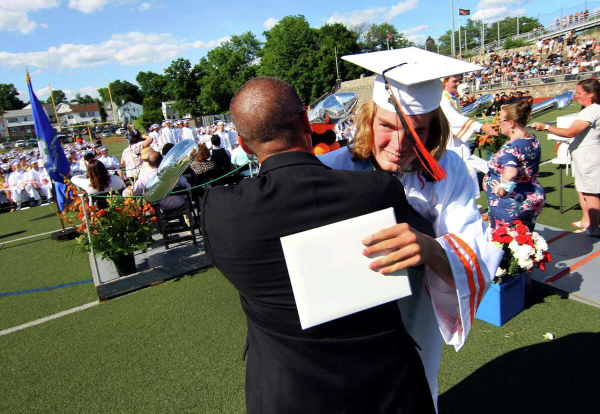 Stamford High School's 156th Graduation ceremony at M.A. Boyle Stadium in Stamford, Conn., on Friday June 11, 2021.