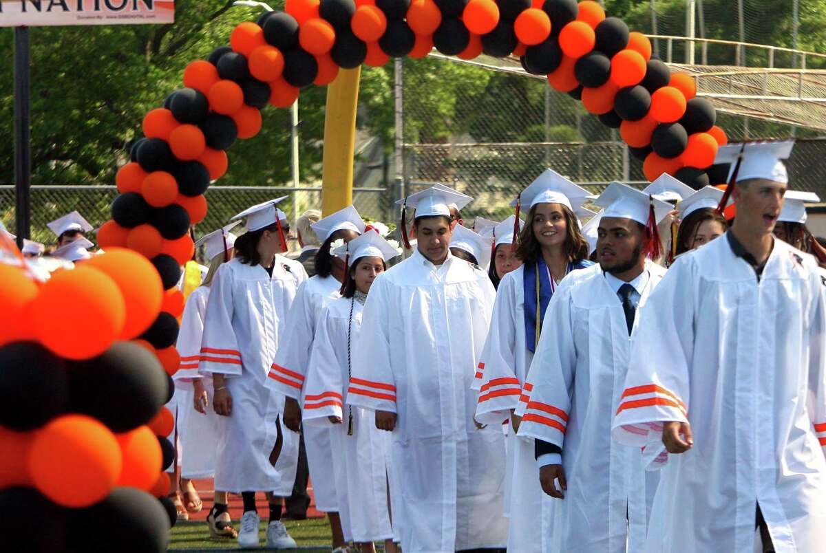 Stamford High School's 156th Graduation ceremony at M.A. Boyle Stadium in Stamford, Conn., on Wednesday June 16, 2021.