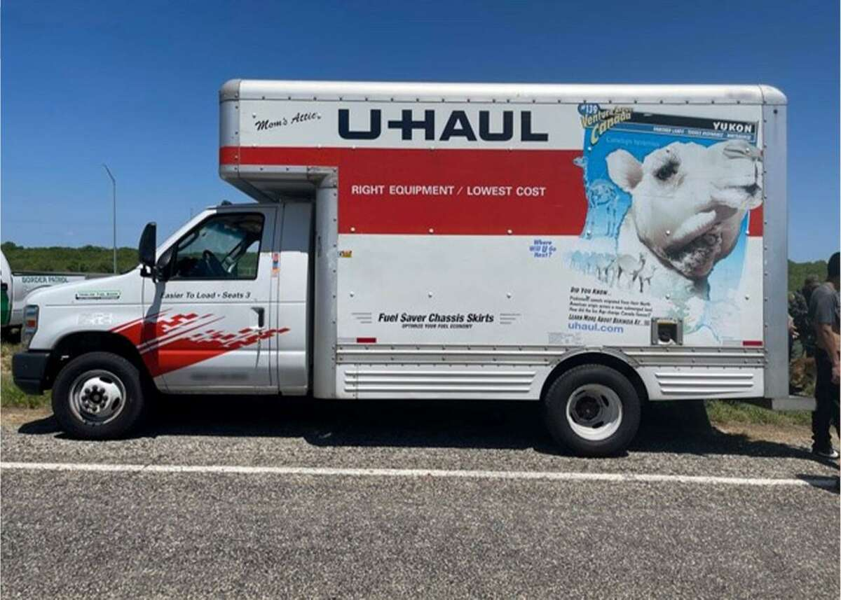 U.S. Border Patrol agents said they discovered 27 undocumented individuals inside this U-Haul.