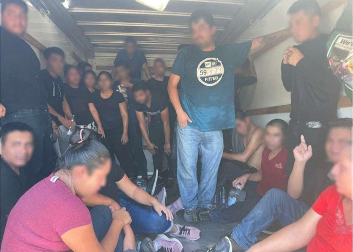 U.S. Border Patrol discovered 27 undocumented individuals inside a U-Haul.