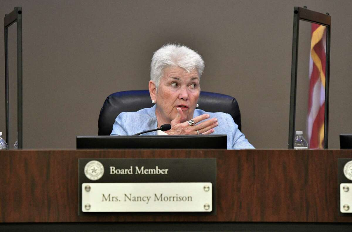 Nancy Morrison and Humble ISD school board members voted to approve the 2021-22 budget on June 15.