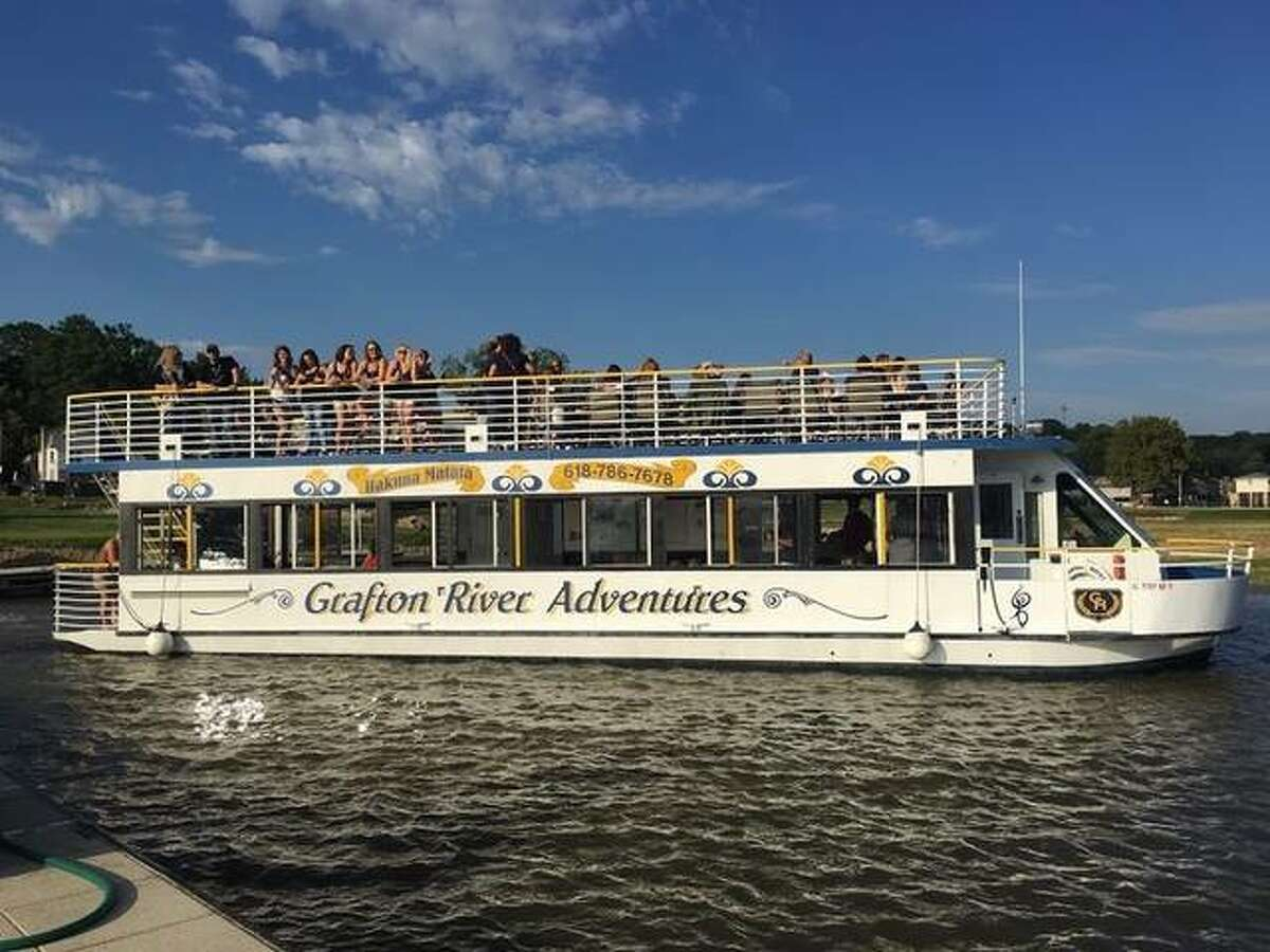 The Hakuna Matata on the water at the confluence of the Mississippi and Illinois rivers in Grafton. Riverboat tours and cruises are one of the ways to take in the Mississippi, and there are plenty of options in the Metro East area. That includes tours through the Gateway Arch.