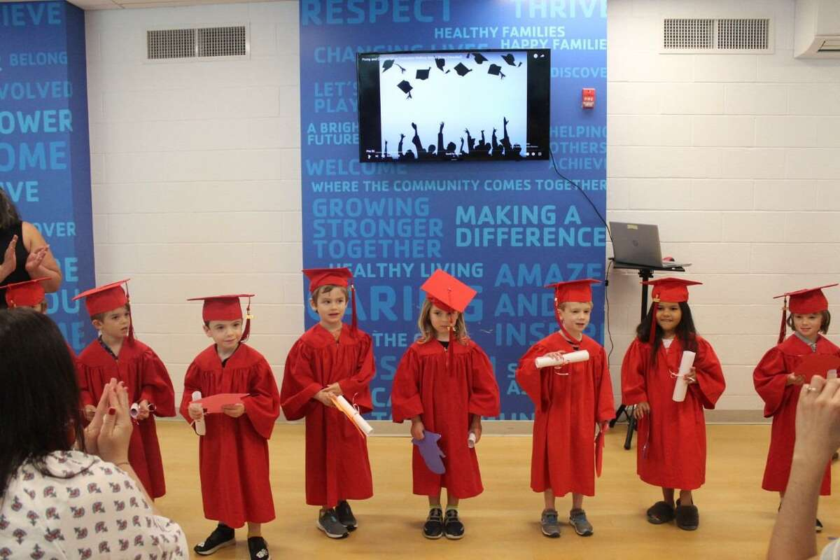 The New Canaan YMCA's Rainbow Station preschool Class of 2021 recently graduated from the school at the social services organization, on Friday, June 11. Rainbow Station 1: Rainbow Station Class of 2021.
